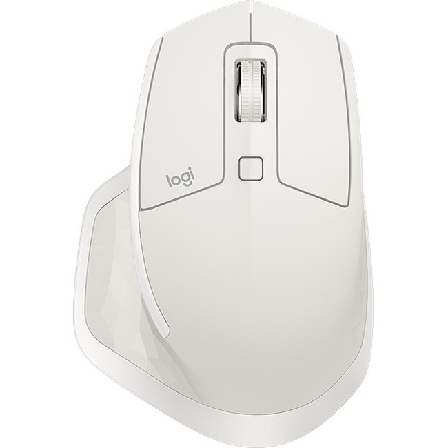 Logitech MX Master 2S Mouse - Darkfield - Wireless - 7 Buttons - Light Grey