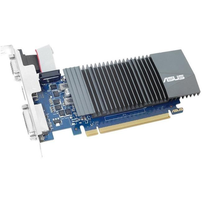 ASUS GeForce GT 710 Graphic Card - 2 GB GDDR5 - Low-profile - 954 MHz Core - 64 bit Bus Width - HDMI - VGA - DVI GT710-SL-2GD5-CSM