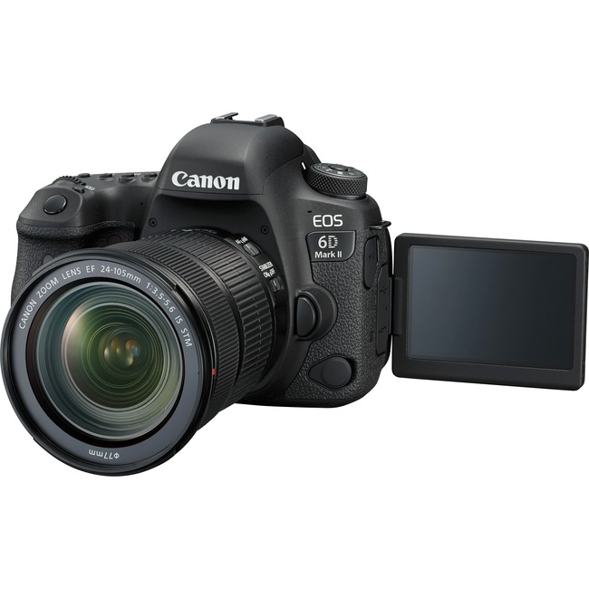 Canon EOS 6D Mark II 26.2 Megapixel Digital SLR Camera with Lens - 24 mm - 105 mm