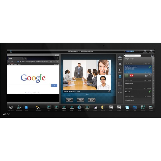 """AMX 20.3"""" Modero X Series G5 Panoramic Wall Mount Touch Panel"""