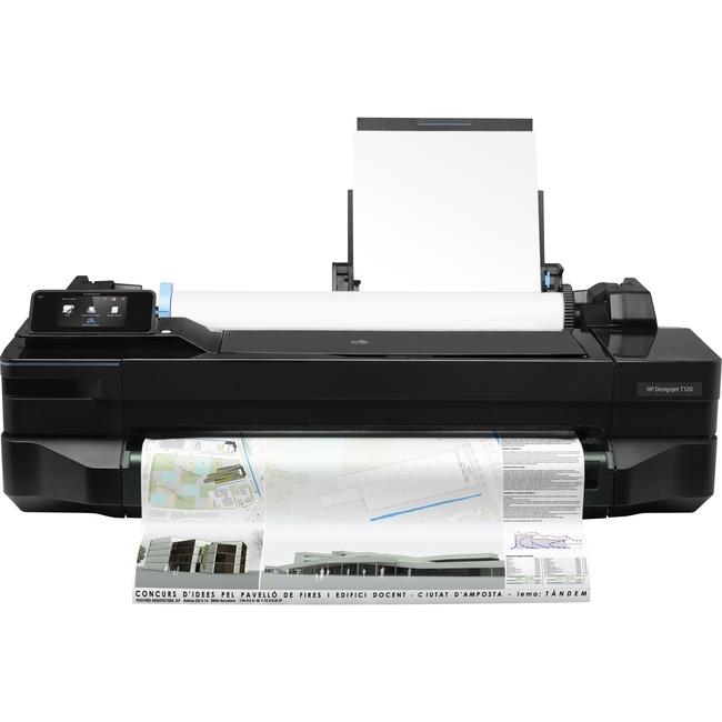 """HP Designjet T120 Inkjet Large Format Printer - 24"""" Print Width - Color"""
