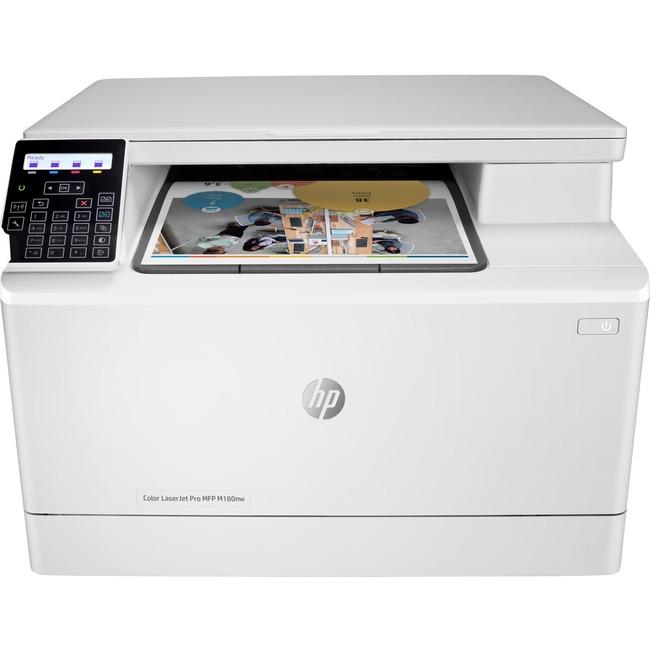 HP LaserJet Pro M180nw Laser Multifunction Printer - Color - Plain Paper Print - Desktop