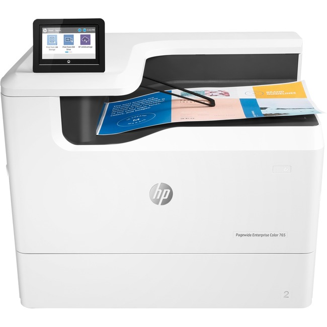 HP PageWide Enterprise 765dn Page Wide Array Printer - Color - 2400 x 1200 dpi Print - Plain Paper Print - Desktop