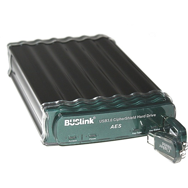12TB CIPHERSHIELD HARDWARE KEY FIPS 140-2 ESATA/USB 3.0 256-BIT AES ENCRYPTED EX