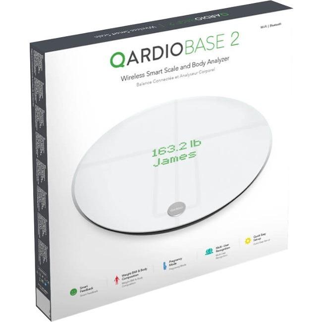 Qardio Qardiobase 2 Wireless Smart Scale and Body Analyzer