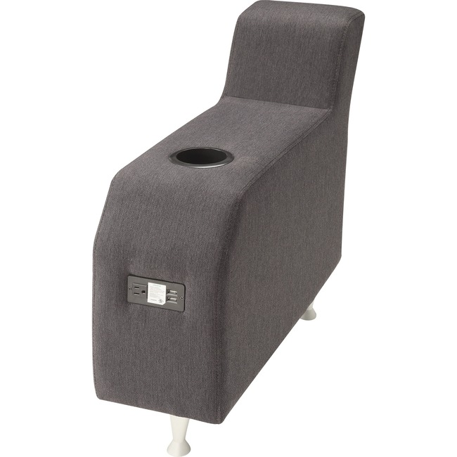 Lorell Fuze Modular Lounge Series Brown Guest Seating