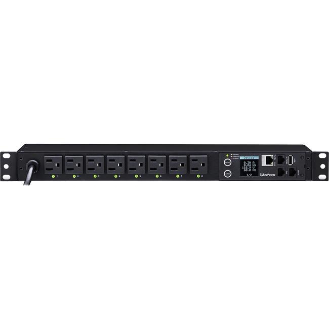 CyberPower PDU41001 8-Outlet 1U Rack Switched PDU (PDU41001)