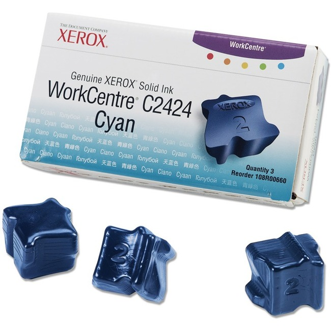 Xerox Cyan Solid Ink Sticks