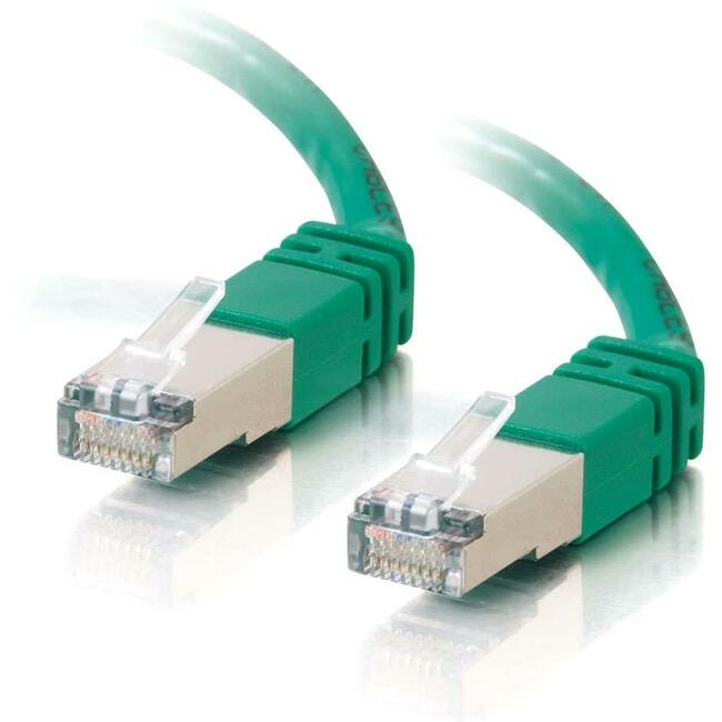 25ft Cat5e Molded Shielded (STP) Network Patch Cable | Green