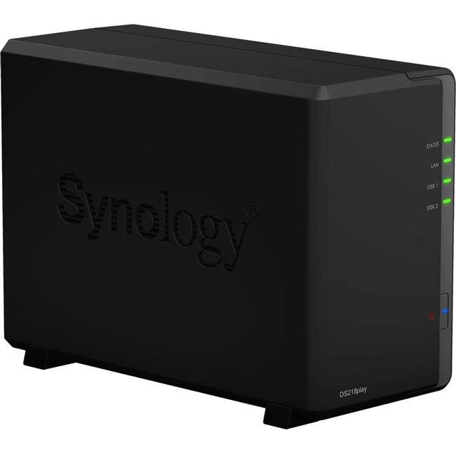 Synology DiskStation DS218play 2 x Total Bays SAN/NAS Storage System - Desktop - Realtek Quad-core 4 Core