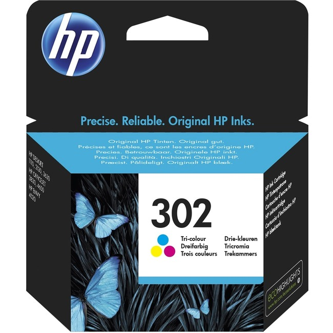 HP 302 Original Ink Cartridge - Tri-colour - Inkjet