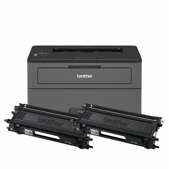 Brother HL-L2370DW XL Extended Print Monochrome Compact Laser Printer with up to 2 Years of Toner In-box