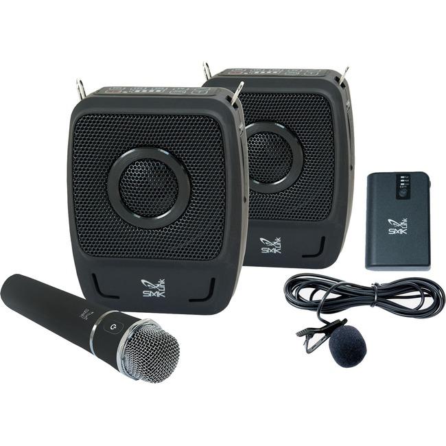 SMK-Link GoSpeak! Duet - 50 W Amplifier - Wireless, Cable Microphone - Battery - Built-in Amplifier - 2 x Speakers - 2 x Microphones - Bluetooth - Battery Rechargeable - Portable