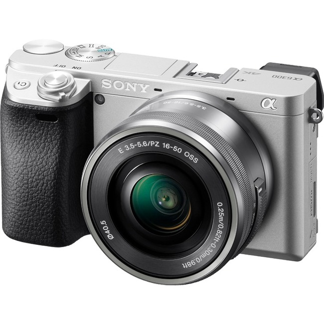 Sony α6300 24 Megapixel Mirrorless Camera with Lens - 16 mm - 50 mm - Silver