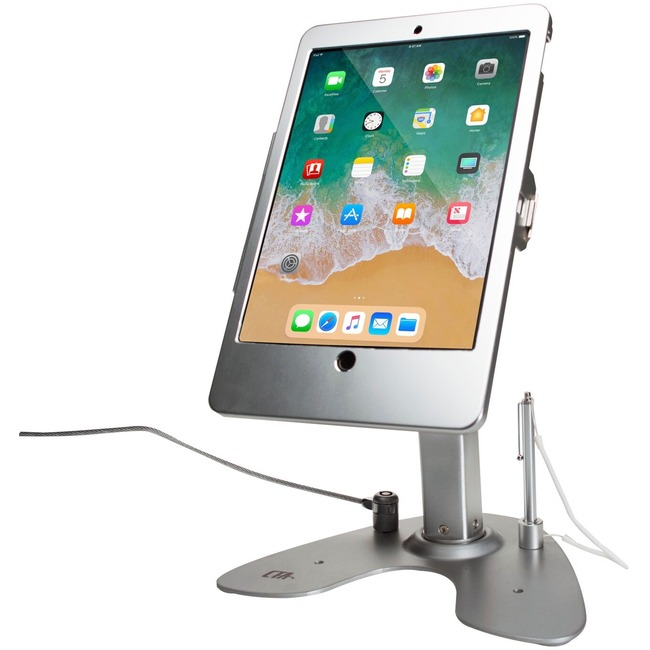 CTA Digital Dual Security Kiosk Stand With Locking Case & Cable Ipad Pro 10.5