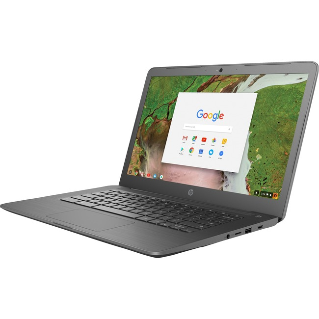 "HP Chromebook 14 G5 14"" Touchscreen LCD Chromebook - Intel Celeron N3350 Dual-core (2 Core) 1.10 GHz - 8 GB LPDDR4 - 32"