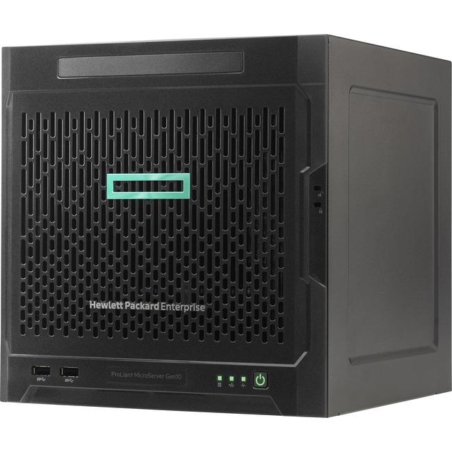 HPE ProLiant MicroServer Gen10 Ultra Micro Tower Server - 1 x AMD Opteron X3421 Quad-core (4 Core) 2.10 GHz - 8 GB Insta