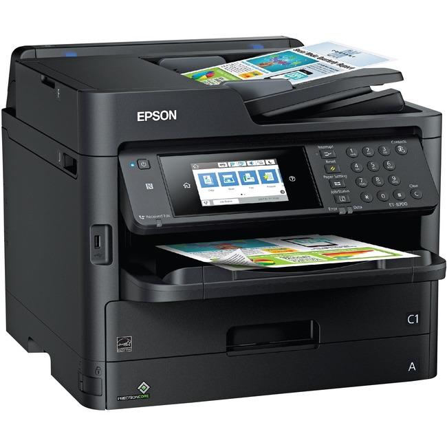 Epson WorkCentre Pro ET-8700 Inkjet Multifunction Printer - Color - Plain Paper Print - Desktop