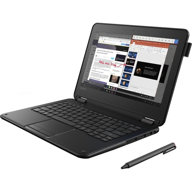 "Lenovo 300e Winbook 81FYS00100 11.6"" LCD 2 in 1 Notebook - Intel Pentium N4200 Quad-core (4 Core) 1.10 GHz - 8 GB LPDDR4"