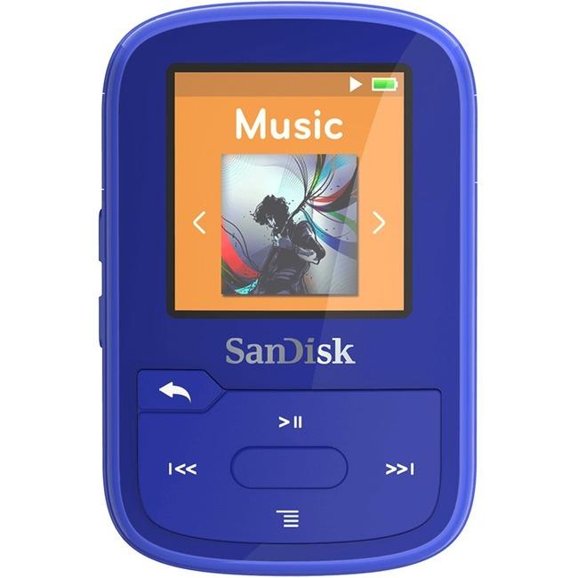 SANDISK MP3 PLAYER SDMX28-016G-G46B CLIP SPORT PLUS BLUE GLOBALCLIP SPORT PL