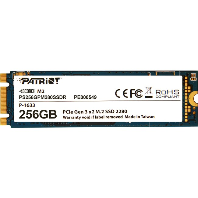 Patriot Memory Scorch 256 GB Solid State Drive - PCI Express (PCI Express 3.0 x2) - Internal - M.2 2280