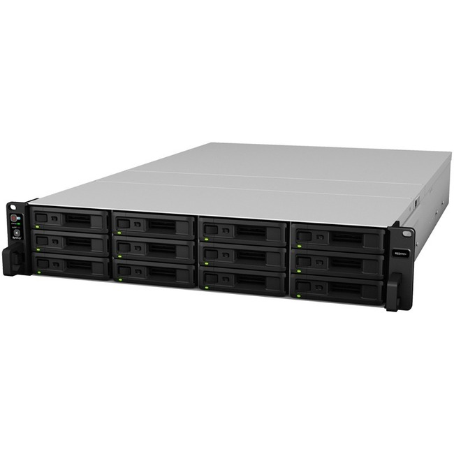 Synology RackStation RS2418RPplus 12 x Total Bays SAN/NAS Storage System - Rack-mountable - Intel Atom C3538 Quad-core 4 Core 2.10 GHz - 12 x HDD Supported - 144 TB S