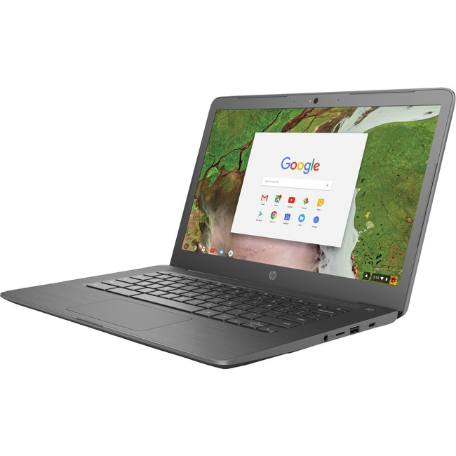 "HP Chromebook 14 G5 14"" Touchscreen LCD Chromebook - Intel Celeron N3450 Quad-core (4 Core) 1.10 GHz - 8 GB LPDDR4 - 64"