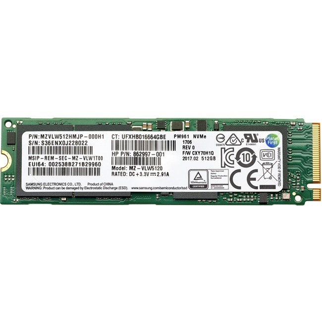 HP 512 GB Solid State Drive - SATA (SATA/600) - Internal - M.2