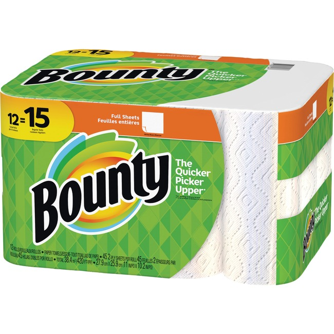 edf7bb6a864 Bounty Paper Towel Rolls 74697 37000746973. Bounty Select A Size Paper  Towels White ...