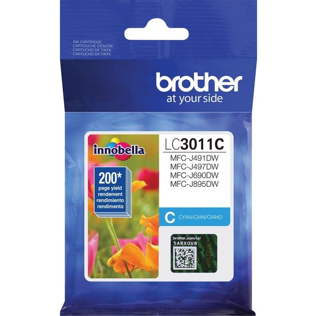 Brother LC3011C Original Ink Cartridge Single Pack - Cyan