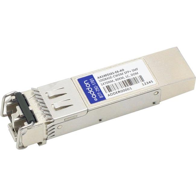 ADDON AVAYA/NORTEL AA1403161-E6 COMPATIBLE TAA COMPLIANT 10GBASE-CWDM SFP TRANS