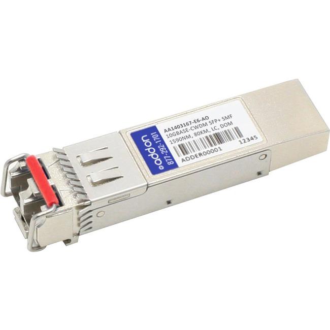 ADDON AVAYA/NORTEL AA1403167-E6 COMPATIBLE TAA COMPLIANT 10GBASE-CWDM SFP TRANS
