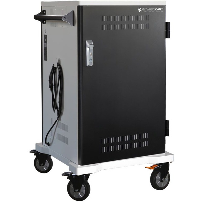 Anywhere Cart 36 Bay Pre-Wired USB-C Cart - 4 Casters - 5inCaster Size - Metal - 26inWid