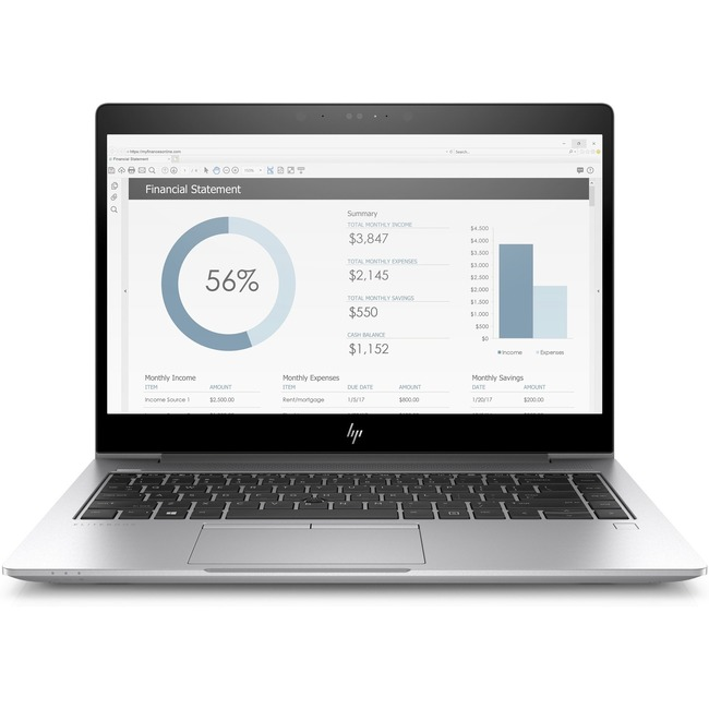 "HP EliteBook 735 G5 13.3"" Notebook - 1920 x 1080 - Ryzen 5 2500U - 8 GB RAM - 256 GB SSD"