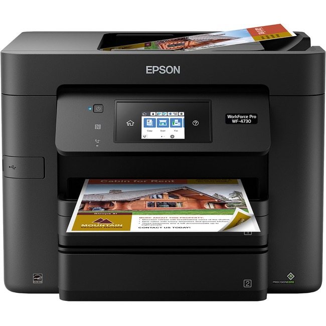 Epson WorkForce Pro WF-4730 Inkjet Multifunction Printer - Color - Plain Paper Print - Desktop