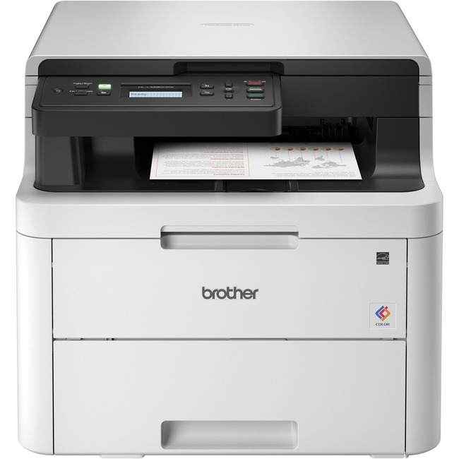 Brother HL-L3290CDW Compact Digital Color Printer Providing Laser Quality Results with Convenient Flatbed Copy & Scan, P