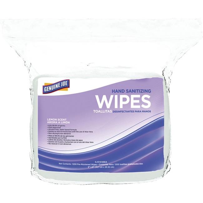 Genuine Joe Alcohol-free Hand Sanitizing Wipes