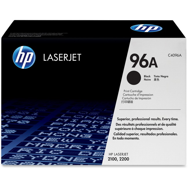 HP 96A Toner Cartridge - Black - Laser - 5000 Page - 1 Each - Retail