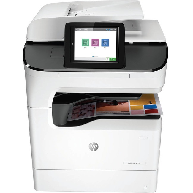 HP 774dns Page Wide Array Multifunction Printer - Color - Plain Paper Print - Floor Standing