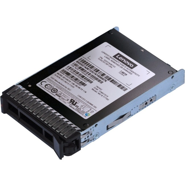 "Lenovo PM1643 3.84 TB Solid State Drive - SAS (12Gb/s SAS) - 2.5"" Drive in 3.5"" Carrier - Read Intensive - 1 DWPD - 7008"