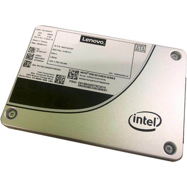 "Lenovo D3-S4610 1.92 TB Solid State Drive - SATA (SATA/600) - 2.5"" Drive - Mixed Use - 3 DWPD - 10752 TB (TBW) - Interna"