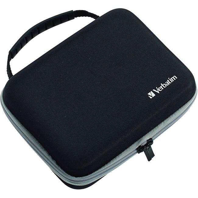 Verbatim Carrying Case Nintendo Gaming Console - Black - Ethylene Vinyl Acetate (EVA) Exterior, Fabric Exterior, Foam Interior - Handle - 1 Pack