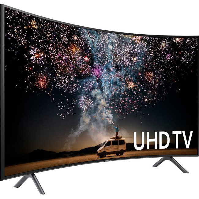 "Samsung 7300 UN65RU7300F 64.5"" Curved Screen Smart LED-LCD TV - 4K UHDTV - Charcoal Black"