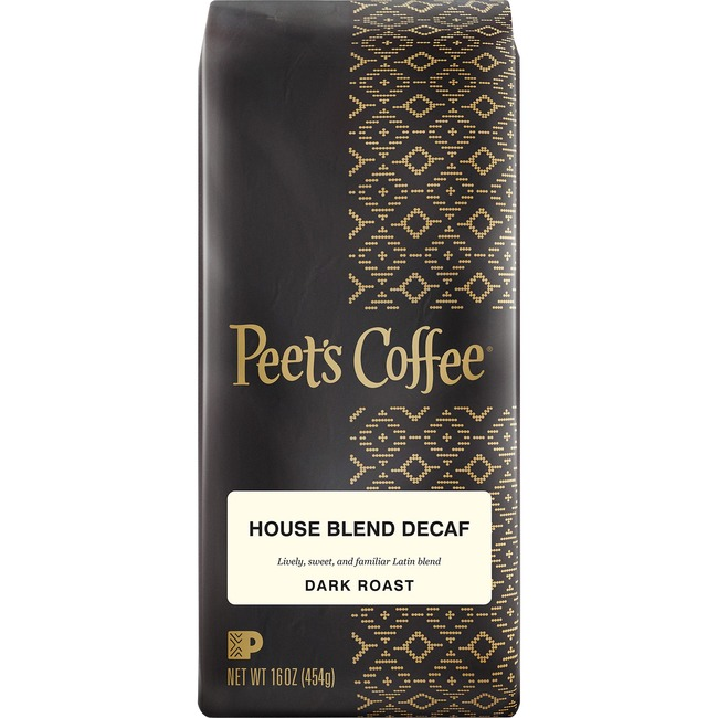 Peets Coffee & Tea House Blend Decaf Coffee Ground