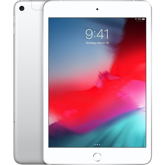 Apple iPad mini 5th Generation Tablet - 20.1 cm 7.9And#34; - 256 GB Storage - iOS 12 - 4G - Silver - Apple A12 Bionic SoC - 7 Megapixel Front Camera - 8 Megapixel Rear