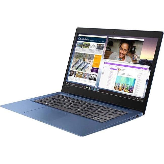 """Lenovo IdeaPad 130S-14IGM 81KU000BUS 14"""" Notebook - 1366 x 768 - Pentium Silver N5000 - 4 GB RAM - 128 GB SSD - Midnight"""