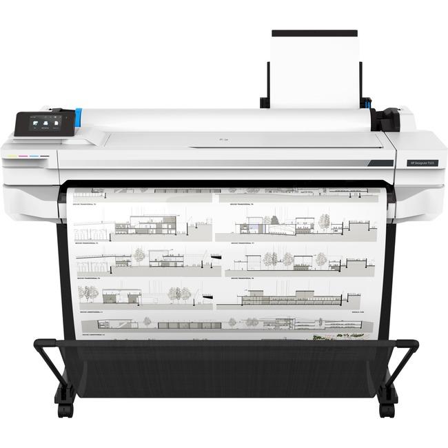 """HP Designjet T525 Inkjet Large Format Printer - 36"""" Print Width - Color"""