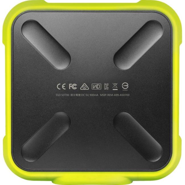 Adata SD700 ASD700-512GU31-CYL 512 GB Portable Solid State Drive - External - Yellow