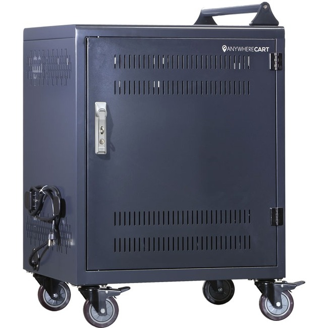 Anywhere Cart 30 Bay Configurable Charging Cart - 4 Casters - 4inCaster Size - Metal - 26