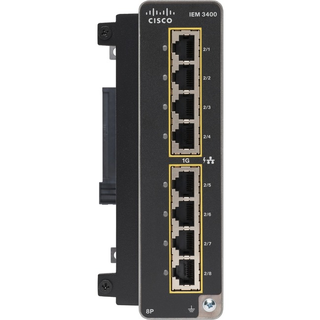 Cisco Catalyst IE3400 Rugged 8 Port GE Adv Exp Module